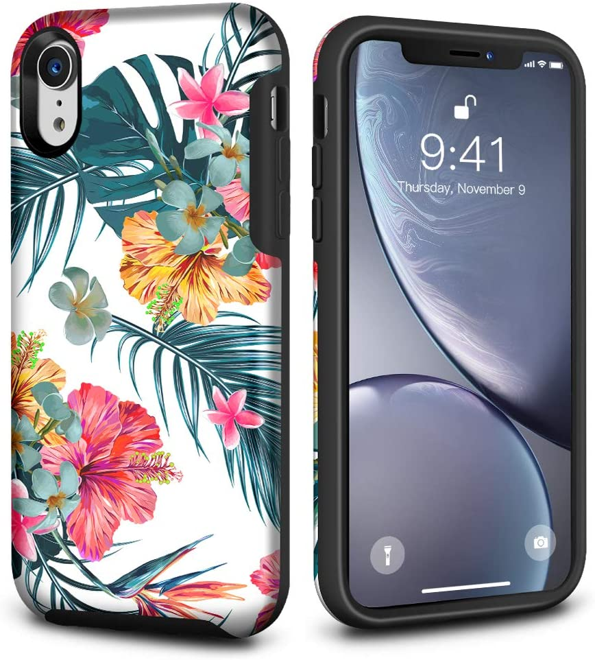KABIBIN Case for iPhone Xr, Slim Fit Hard PC Full-Body Protection Shockproof Rugged Bumper Protective Cover Compatible with Apple iPhone Xr 6.1 Inch (Jasmine)
