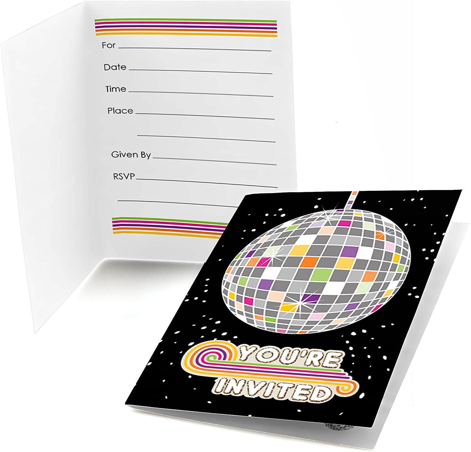 70's Disco - Fill In 1970's Disco Fever Party Invitations (8 count)