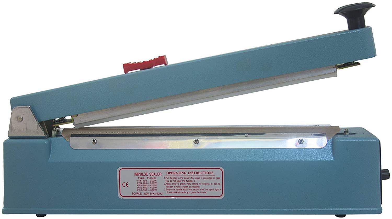 INAVIS 12 inch (300mm) Impulse Bag Sealer Poly Bag Sealing Machine Heat Seal with Cutter
