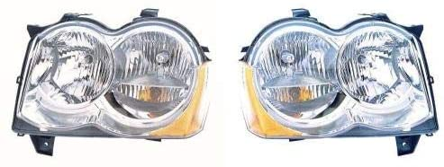 Go-Parts - PAIR/SET - for 2008 - 2010 Jeep Grand Cherokee Front Headlights Assembly Front Housing / Lens / Cover - Left & Right (Driver & Passenger) Side CH2519131 CH2518131 55157482AE 55157483AE
