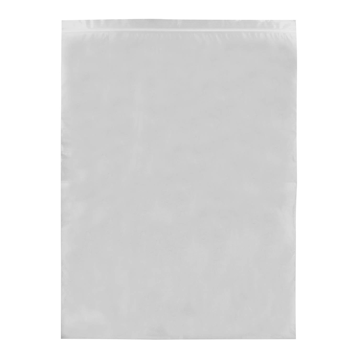 BISupply Clear Plastic Bags, 500 Count - Reclosable Packaging Bulk Resealable Package Zip Poly Bag - 13in by 18in