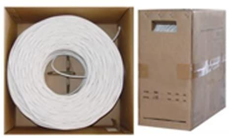 Offex Wholesale RG6 Coaxial Cable, Quad-Shielded 18AWG Solid White, 1000 ft, ...