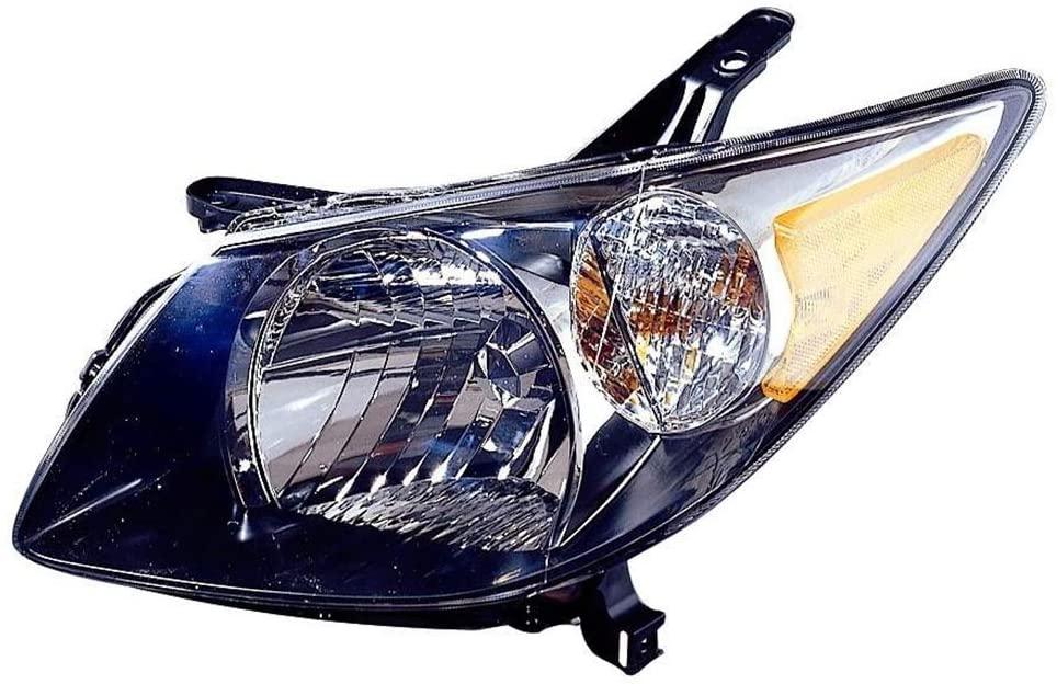For Pontiac Vibe 2003-2004 Headlight Assembly Black Bezel Driver Side (DOT Certified) GM2502238N