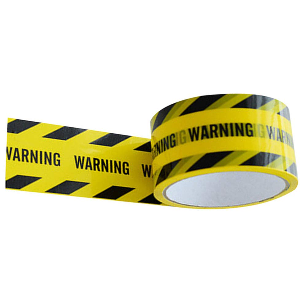 UKCOCO Warning Safety Stripe Tape - Warning Tape Striking Adhesive Warning Barricade Tape Marking Tape Warining Line for Walls Floors Pipes