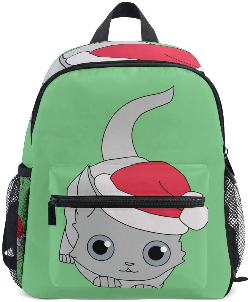 Kids School Bag Backpack Christmas Cat Children Bookbag