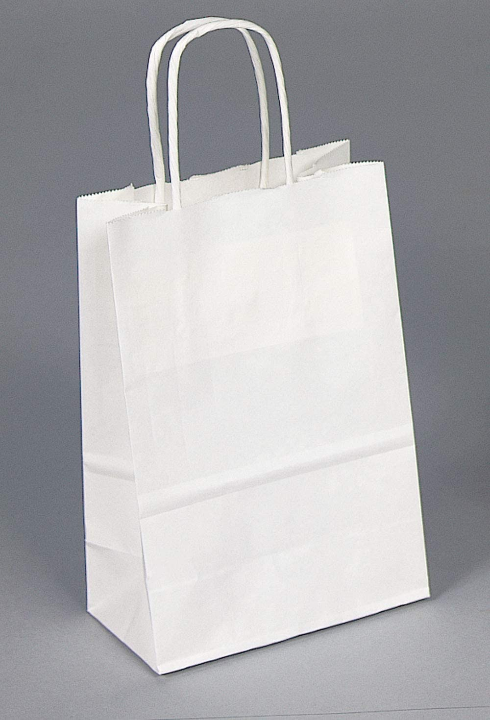 A Package 4 It, 250Pcs, 5x3x8 Inches Kraft Paper Bags with Handles Bulk Gift Bags Shopping Bags for Grocery, Merchandise, Party, 100% Recyclable Small White Paper Bags