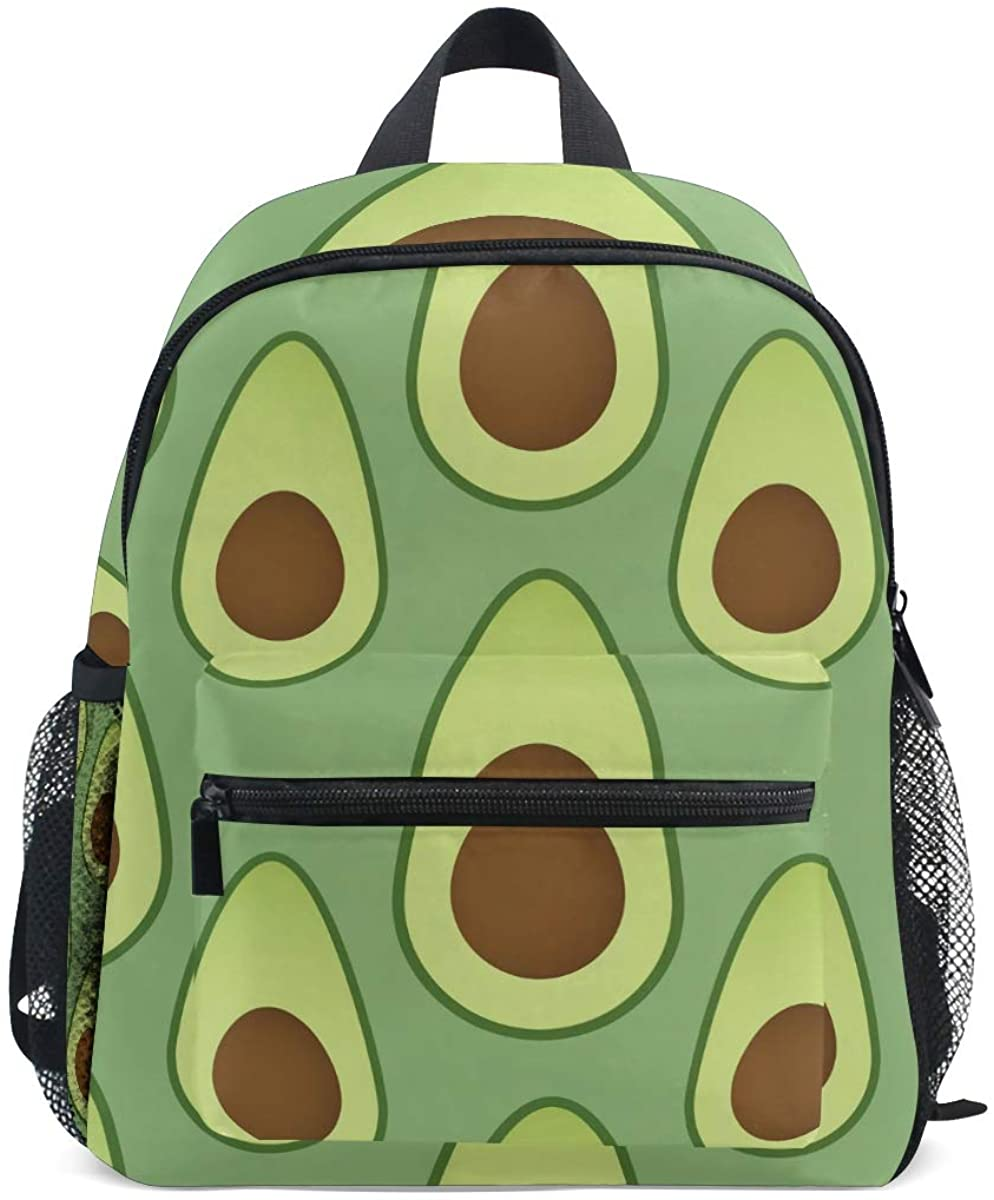 Upgraded Backpack for School Teenagers Girls Boys Green Vector Avocados Travel Bag with Chest Buckle and Whistle