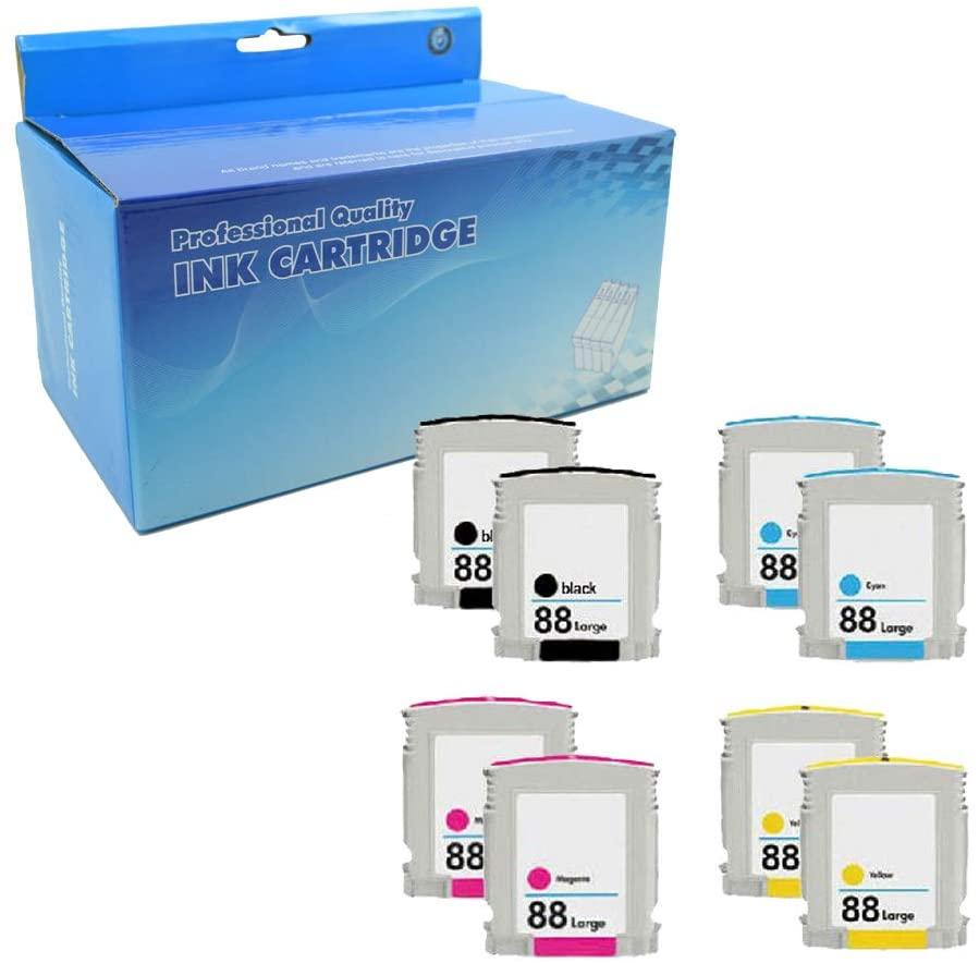 Lic-Store Compatible Ink Cartridge Replacement for HP 88 XL 88XL Work with Officejet Pro K5400 K550 K8600 L7480 L7550 L7580 L7590 L7650 L7680 L7750 L7780(2BK 2Y 2C 2M 8PK)