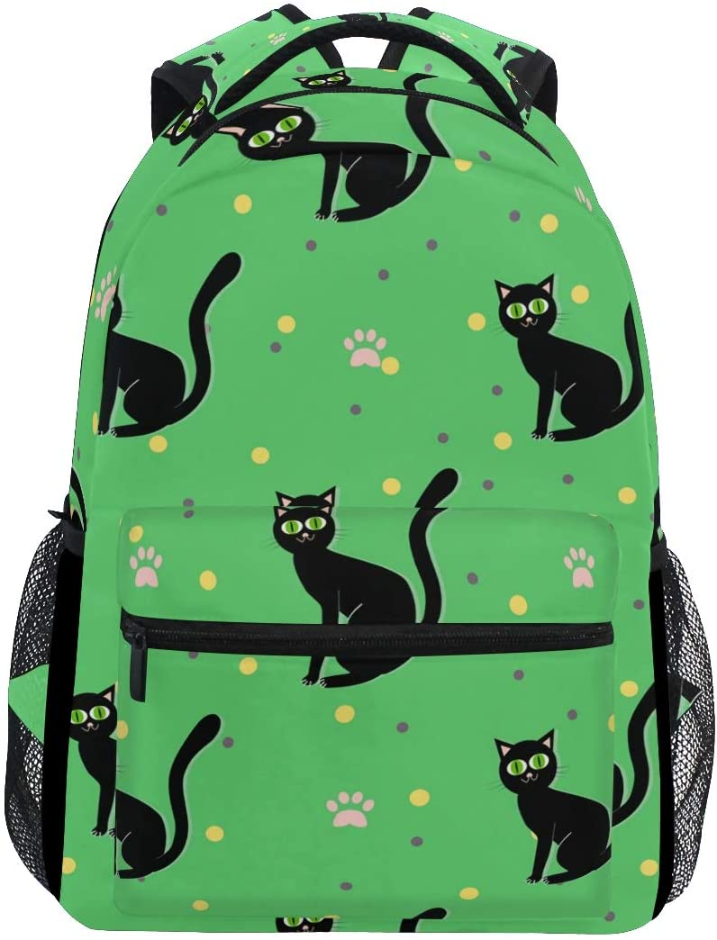 Stylish Abstract Black Cat Backpack- Lightweight School College Travel Bags, ChunBB 16