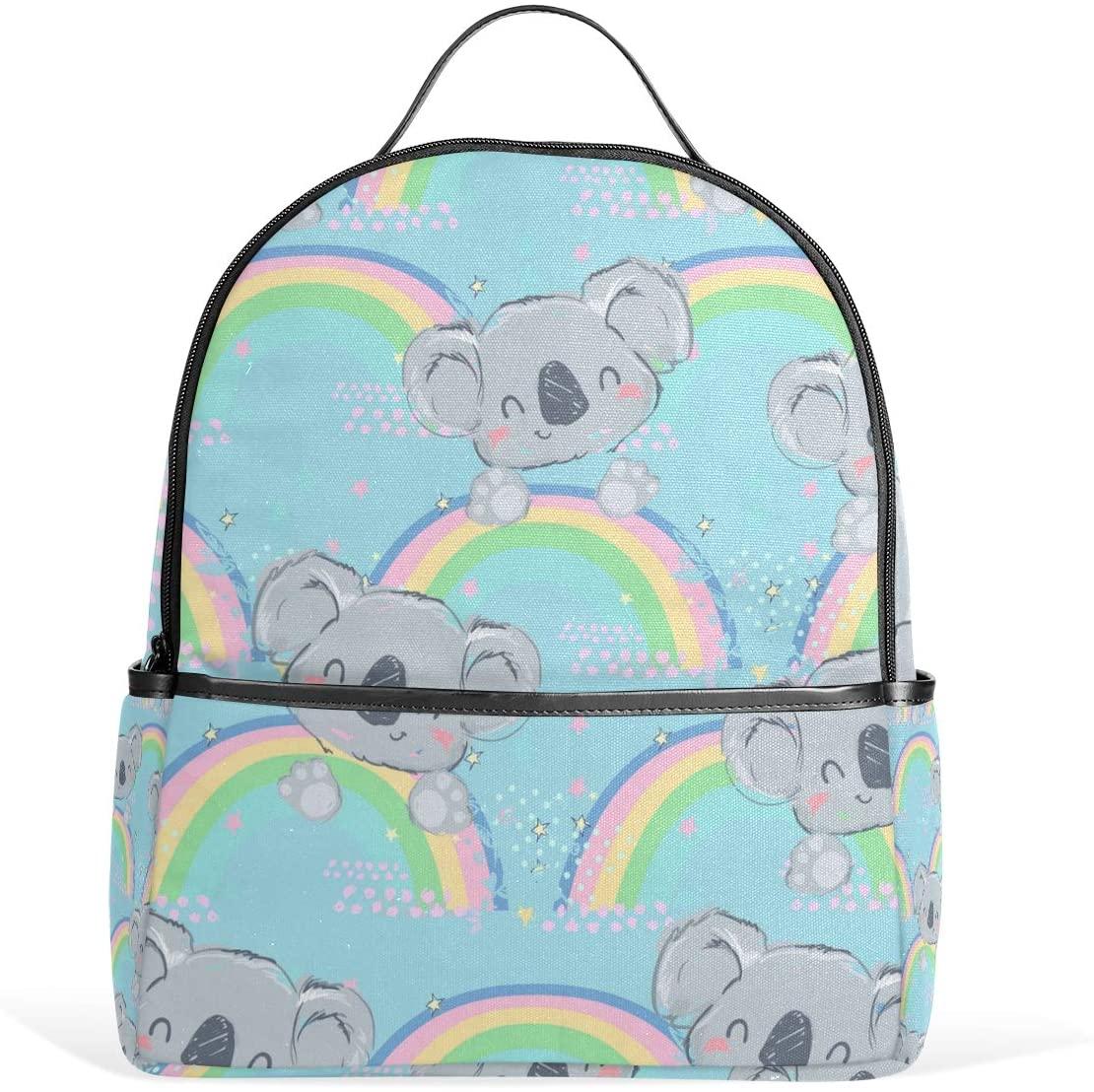 Kids' School Backpack Koala with Rainbow Bookbag for Boys Girls Lightweight Casual Travel Bag Large Capacity Daypack