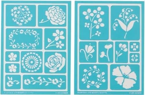 Martha Stewart Adhesive Stencils, Blossoms 1 pcs sku# 927466MA