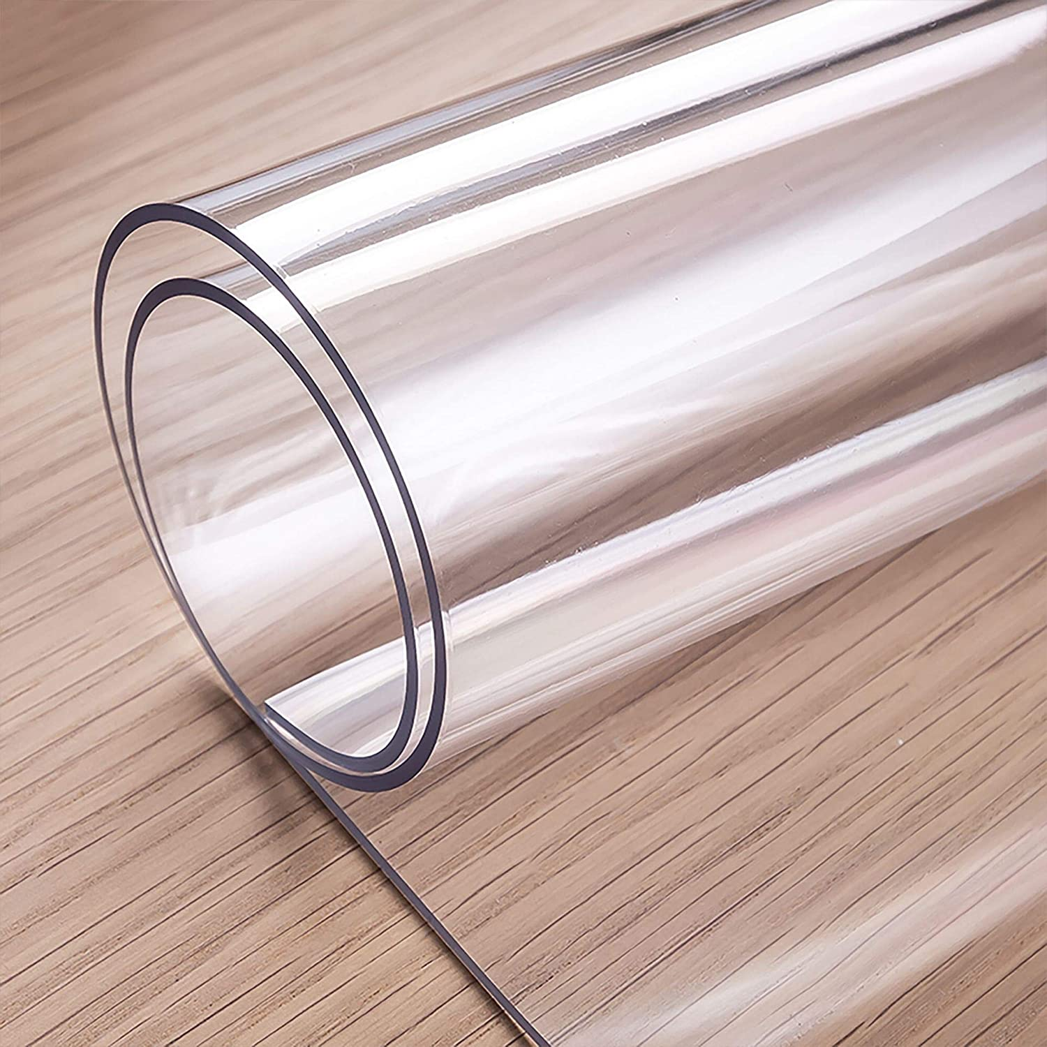 OstepDecor Custom 2mm Thick Clear Table Cover, 80 x 40 Inch, Table Protector for Dining Room Table, Clear Table Cloth Cover Protector, Clear Table Pad, Plastic Table Cloth for Kitchen Wooden Table