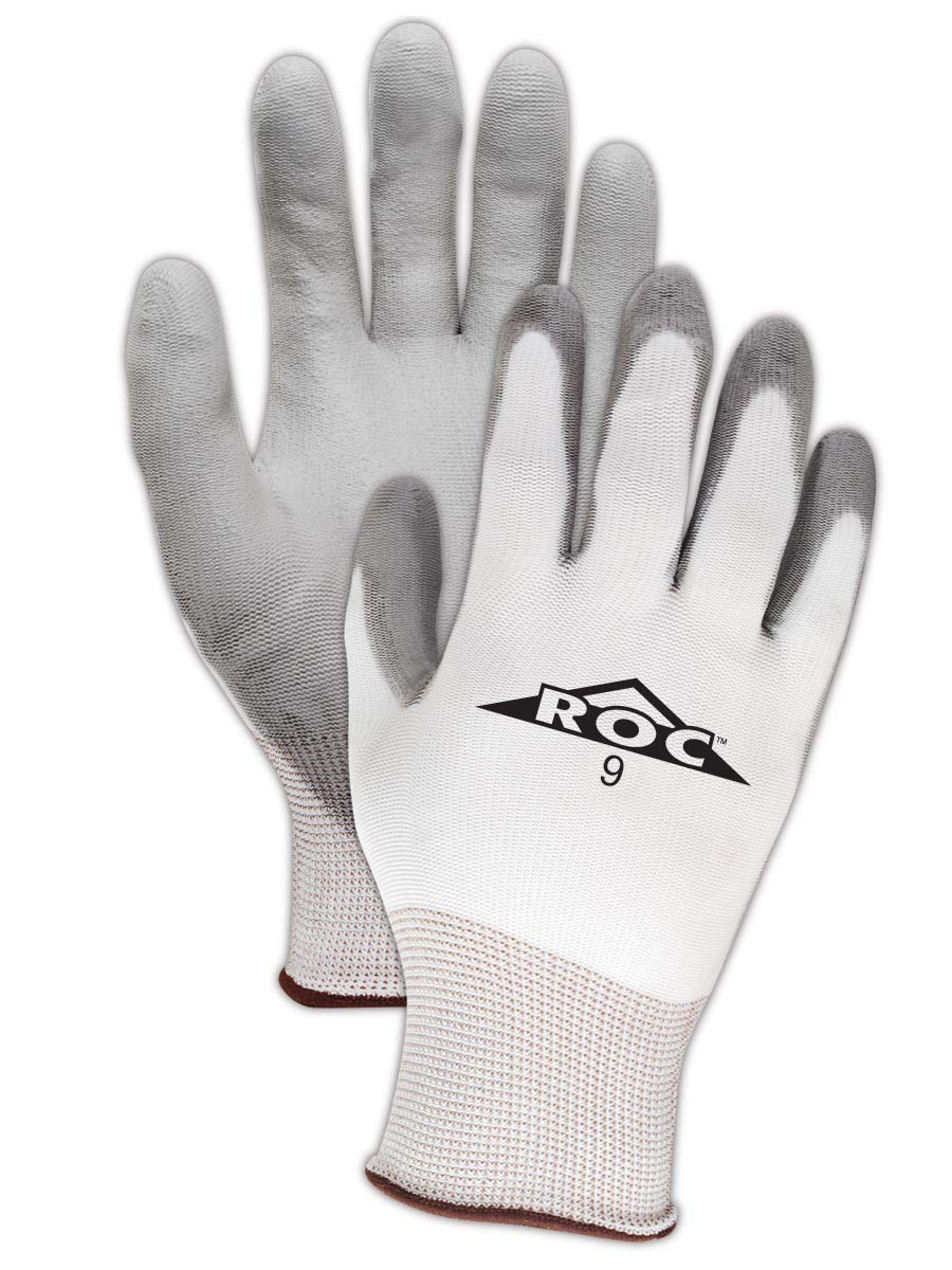 Magid Glove & Safety Mechanics Work Gloves | Coated Mechanic Gloves for Work - Mens & Womens - Grey/White, Size 7/Small (120 Pairs)
