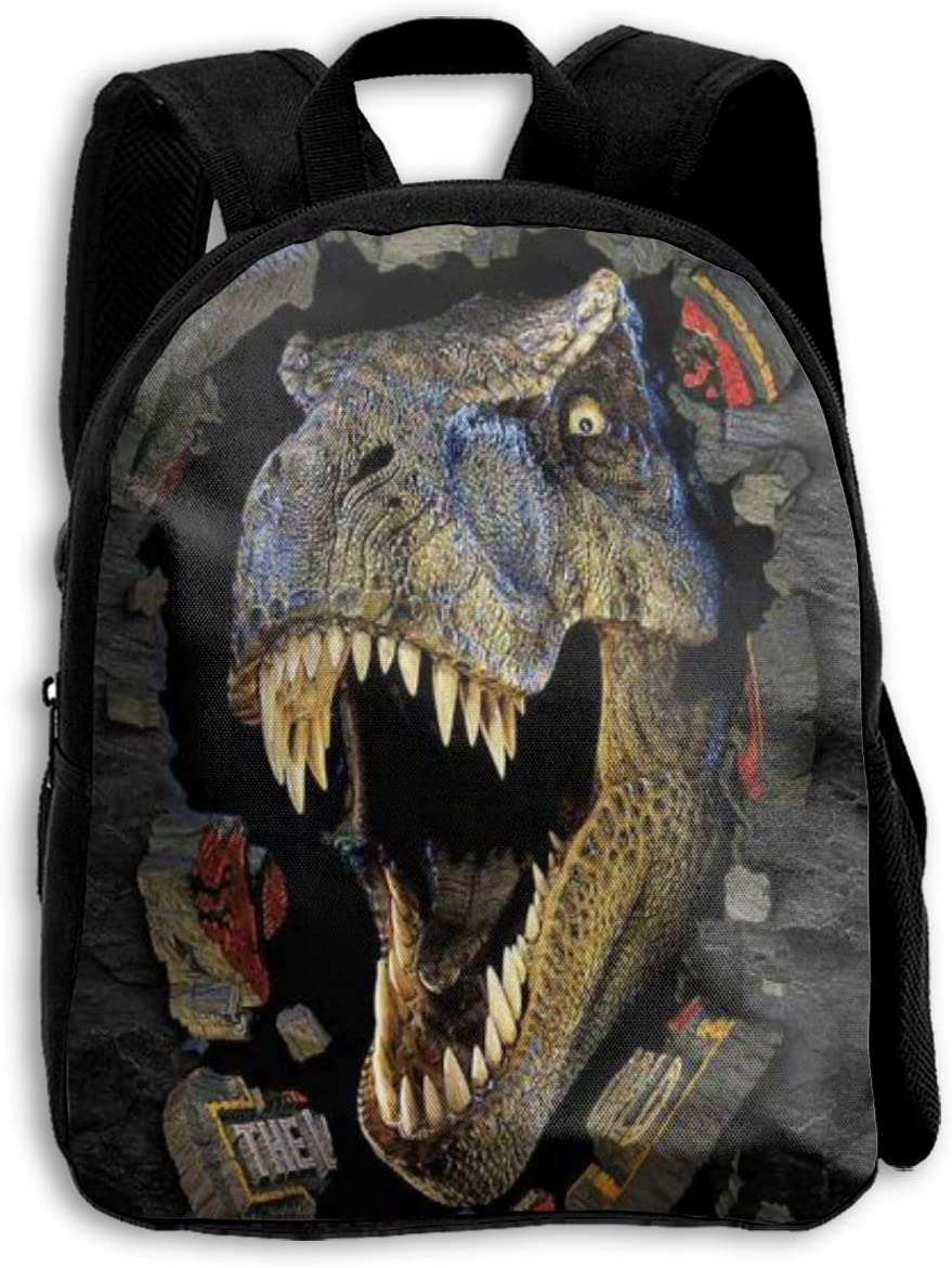 Cool Dinosaur Kids School Backpack for Girls Boys Lightweight Durable Middle Elementary Daypack Book Bag
