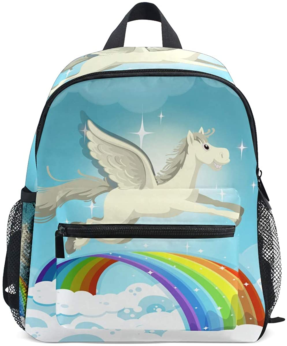 Kids School Backpack Pegasus Toddler Preschool Shoulder Bookbag Kindergarten Elementary School Bag for Small Boys Girls