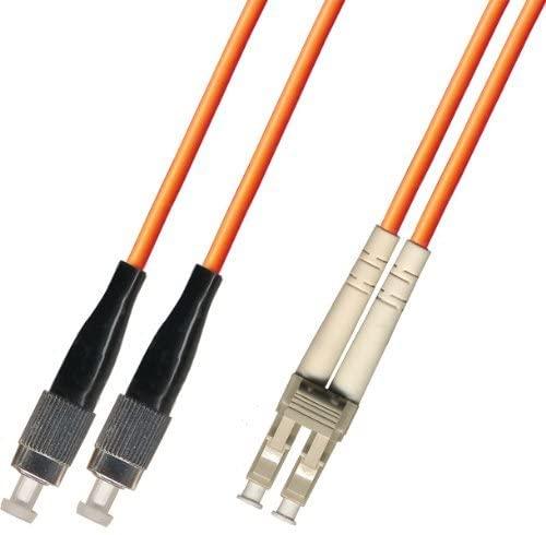 15M Multimode Duplex Fiber Optic Cable (50/125) - FC to LC