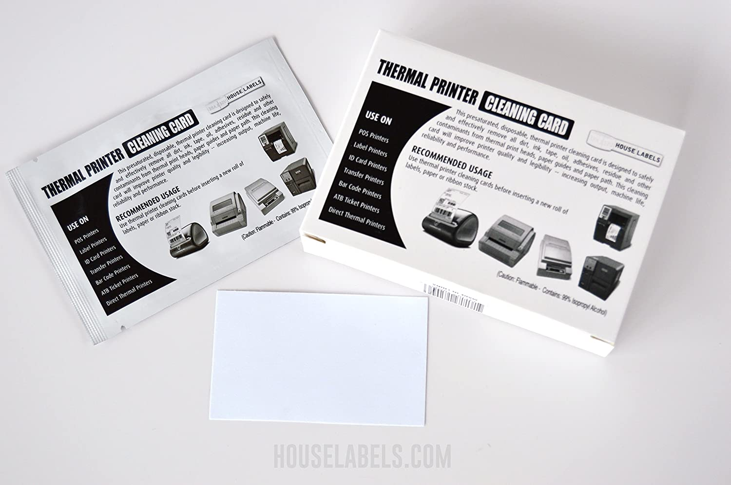"""25 Compatible with DYMO Cleaning Cards 60622, 2.1"""" x 3.425"""
