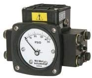 Midwest Instrument Pressure Gauge, 0 to 100 psi - 140-AA-00-O(AA)-100P