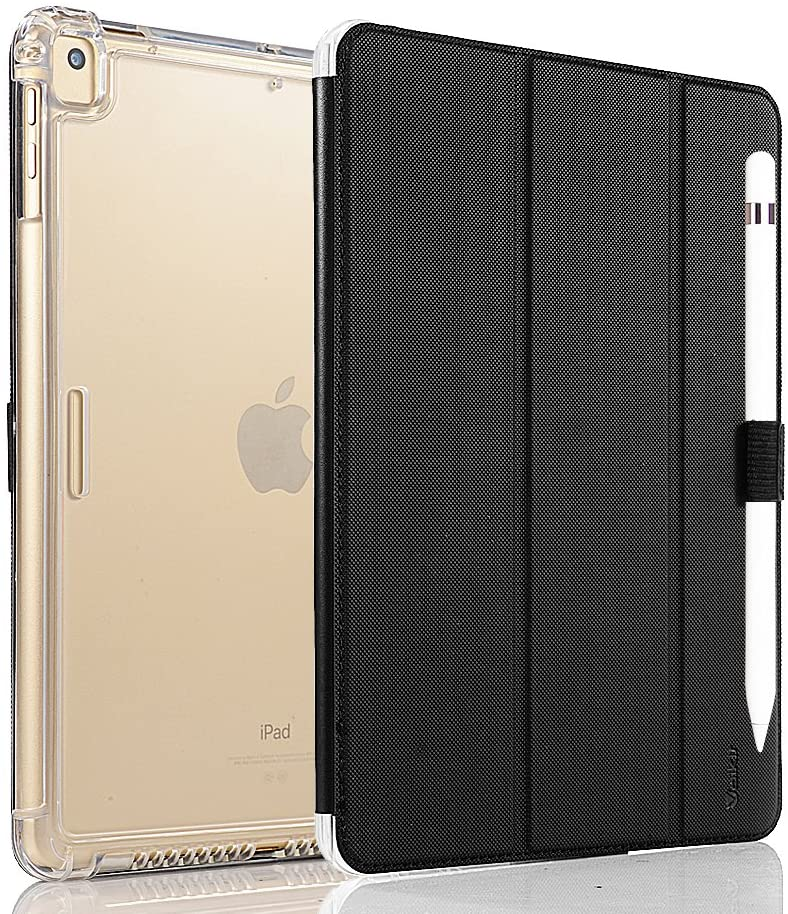 Valkit iPad Air (3rd Gen) 10.5 2019 / iPad Pro 10.5 2017 Case, Smart Folio Stand Protective Translucent Frosted Back Cover for Apple iPad Air 3 10.5 Inch 2019[Auto Sleep/Wake], Black