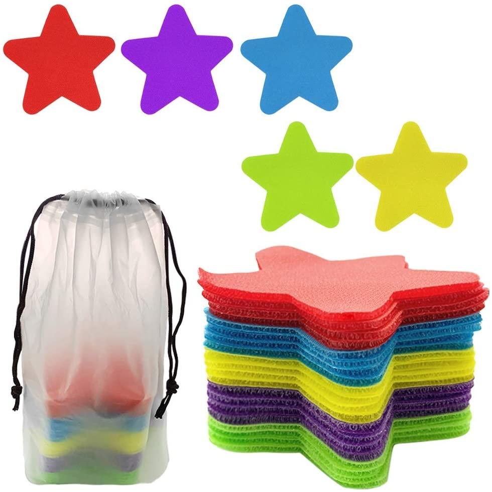 40 Pcs 5 Colour Carpet Markers Spot Markers Carpet Spots for Classroom, Classroom Sitting Spots,4