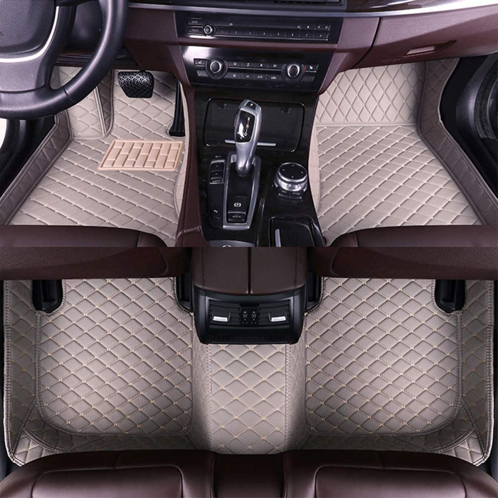 8X-SPEED Custom Car Floor Mats for KIA Sorento 2009-2012 5-Seats car grilles and Headlights Different Full Coverage All Weather Protection Waterproof Non-Slip Leather Liner Set Gray