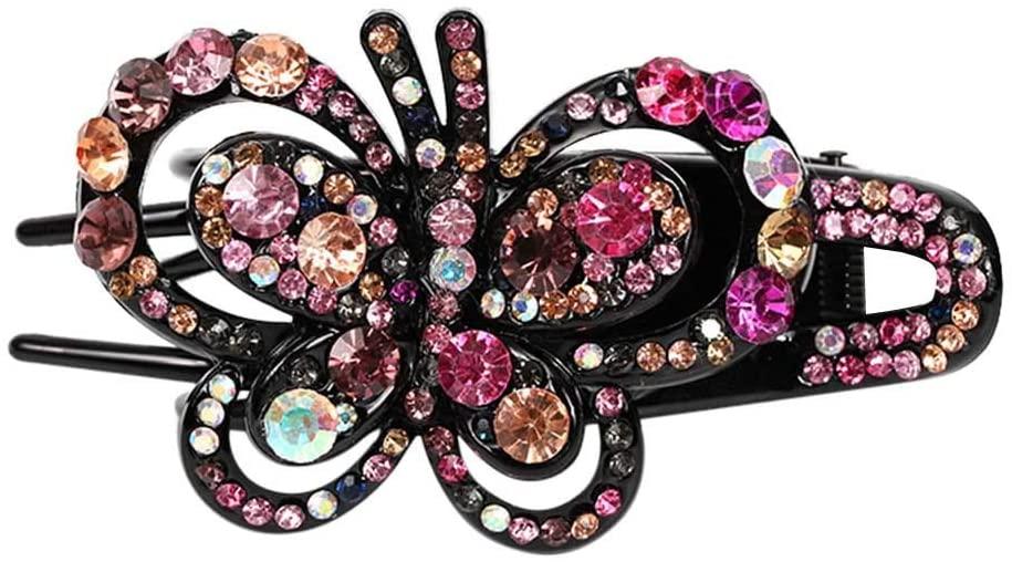 1PC Elegant Butterfly Hairpin Fancy Rhinestones Claw Clip Jaw Clips for Women Lady
