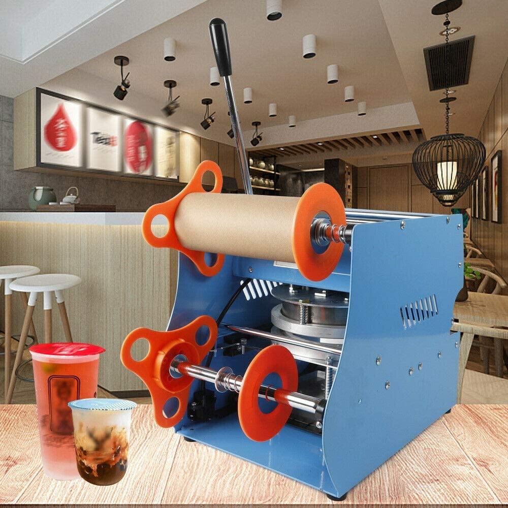Sealing Machine, 110V 350W Electric Bubble Tea Cover Sealer Cup Sealer Sealing Machine, 300-500 Cups/hr