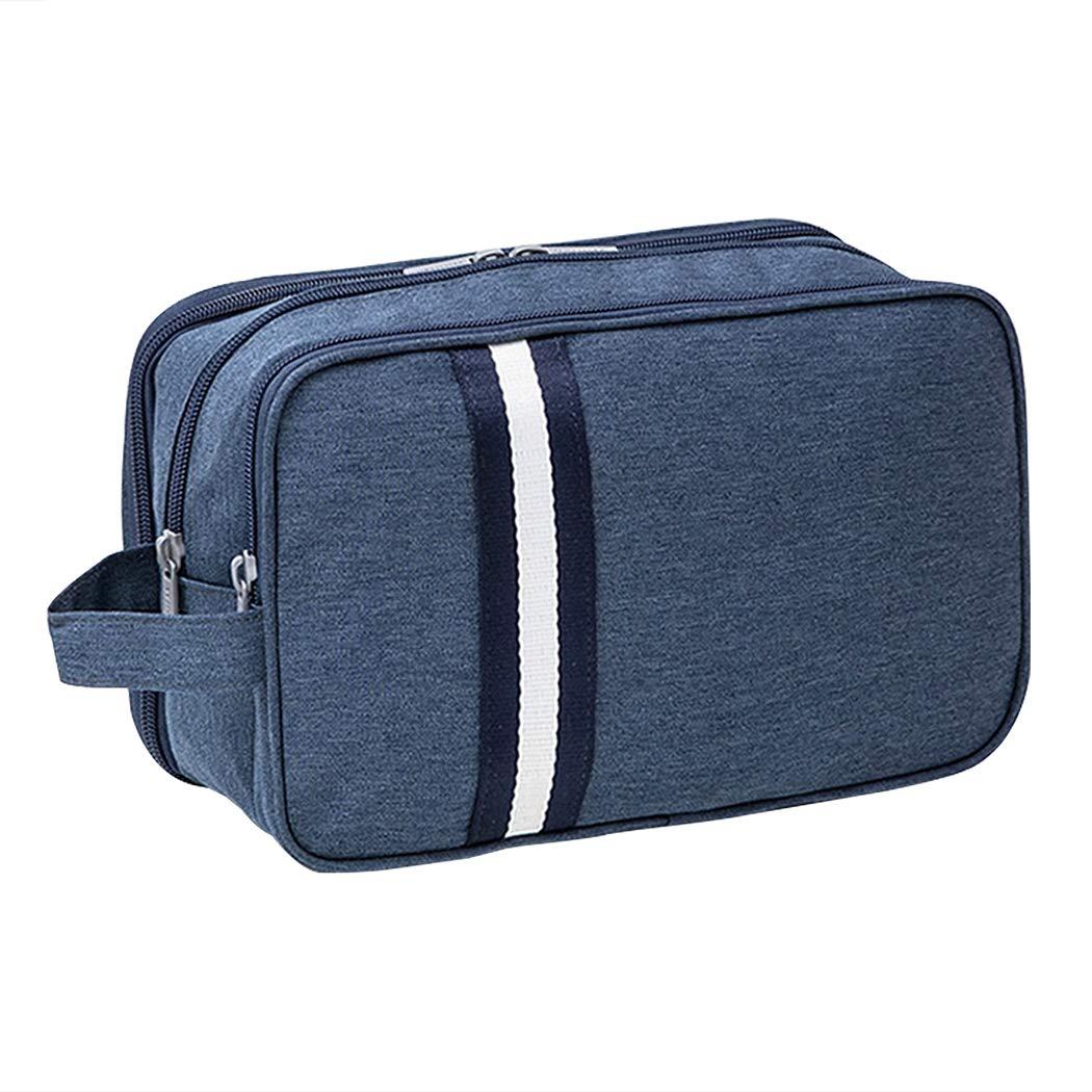iSuperb Waterproof Toiletry Bag Travel Cosmetic Bag Dopp Kit Roomy Shaving Bag with Handle for Women and Men (Dark Blue)