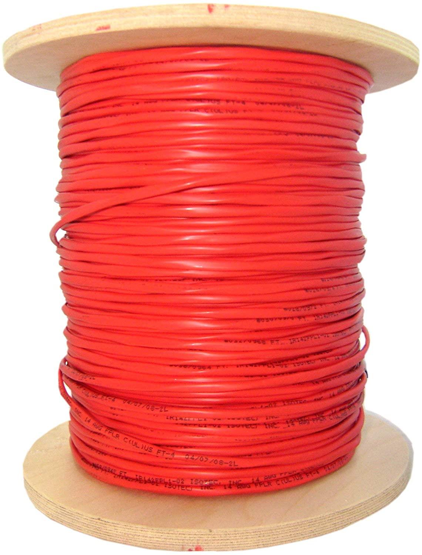 GOWOS 6 Fiber Indoor Distribution Fiber Optic Cable, Multimode, 62.5/125, Orange, Riser Rated, Spool, 1000 Feet