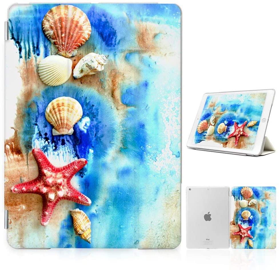 for iPad Mini 5, iPad Mini 4, Designed Smart Case Cover, SMART40121 Beach Sea Shell Starfish 40121