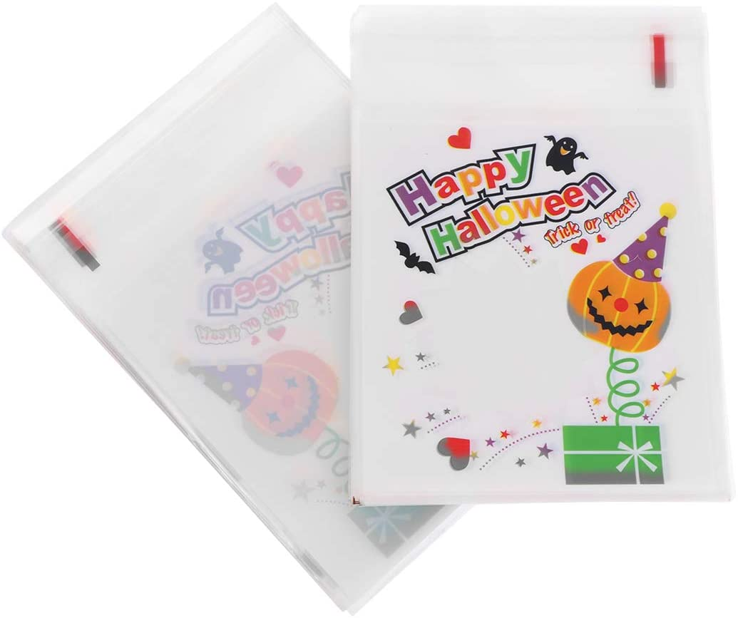 Supvox 200pcs Halloween Self Adhesive Candy Bags Ear Cookie Bags Cellophane Treat Bags Ear Cookie Bags Cellophane Treat Bags