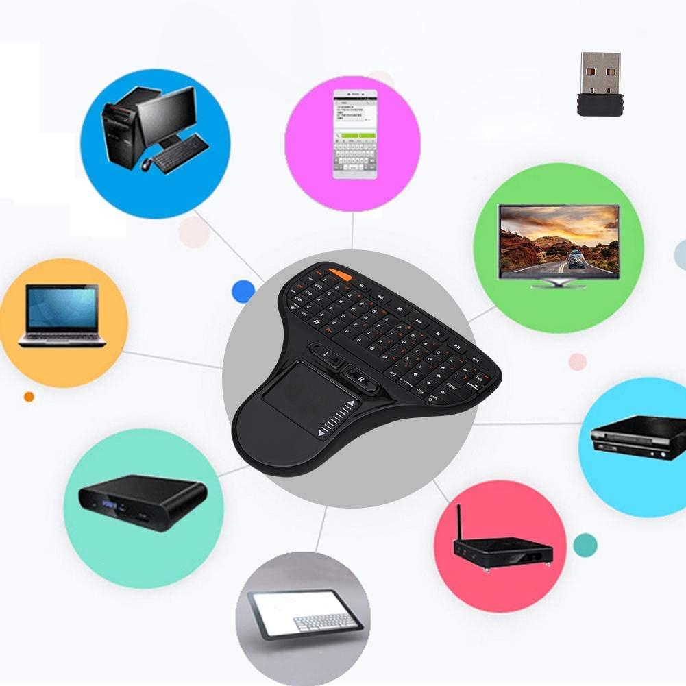 Pomya Wireless Bluetooth Keyboard, 2 in1 Mini Keyboard Touch Control Intelligent Air Mouse Multimedia 2.4G Wireless Mouse Keyboard for Desktop, PC, Laptop,TV Box, etc