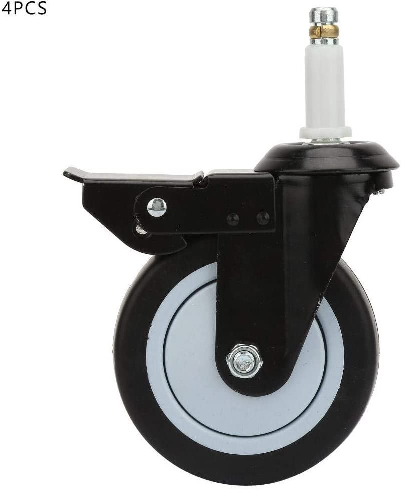 Castors Wheels TPR Metal Braking Locking Casters Wheel Casters Replacement for Office Chair Dining Car Trolley 4inches 4Pcs