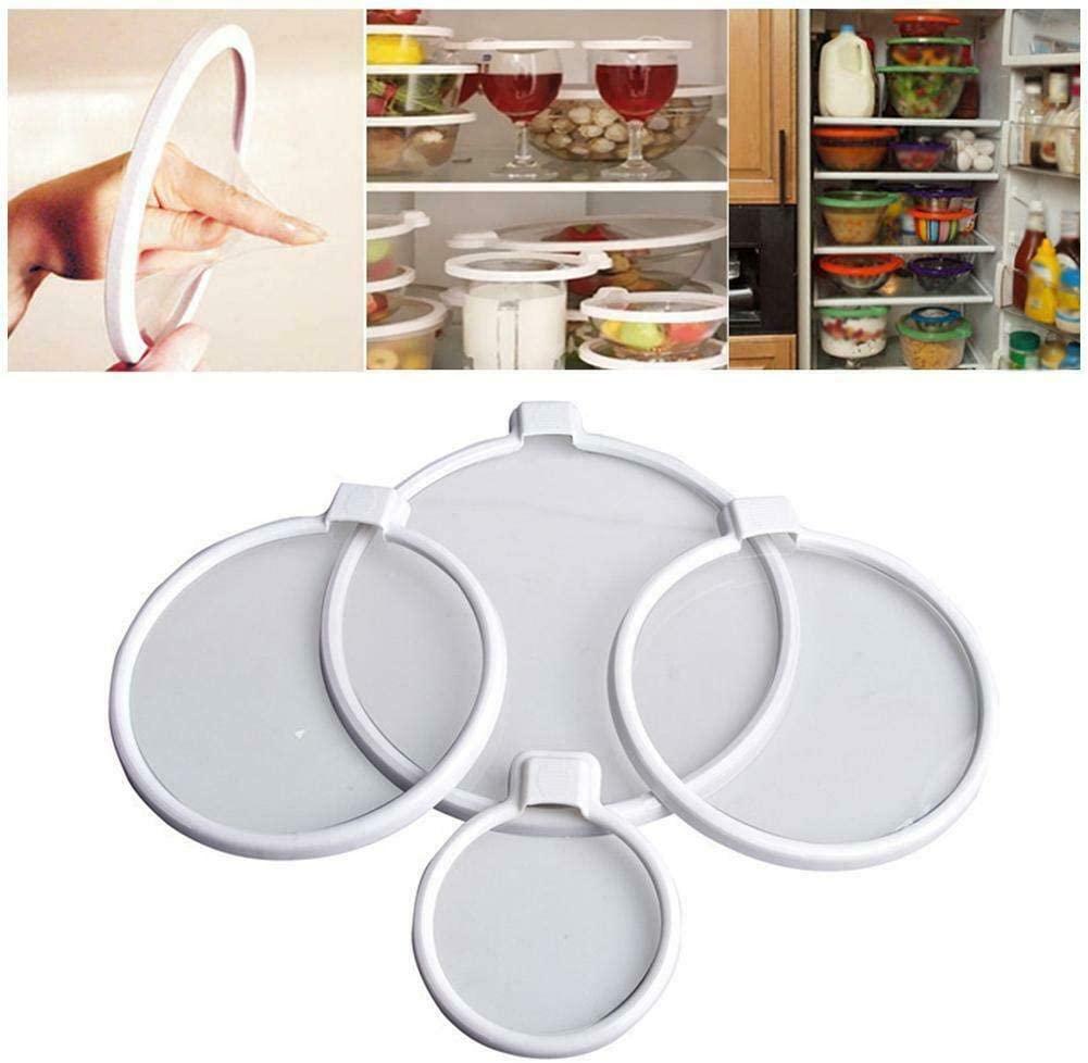 TIFALEX 4PCS Keepeez Vacuum Food Sealers Lid Press N Seal Bra Free Preserve Food