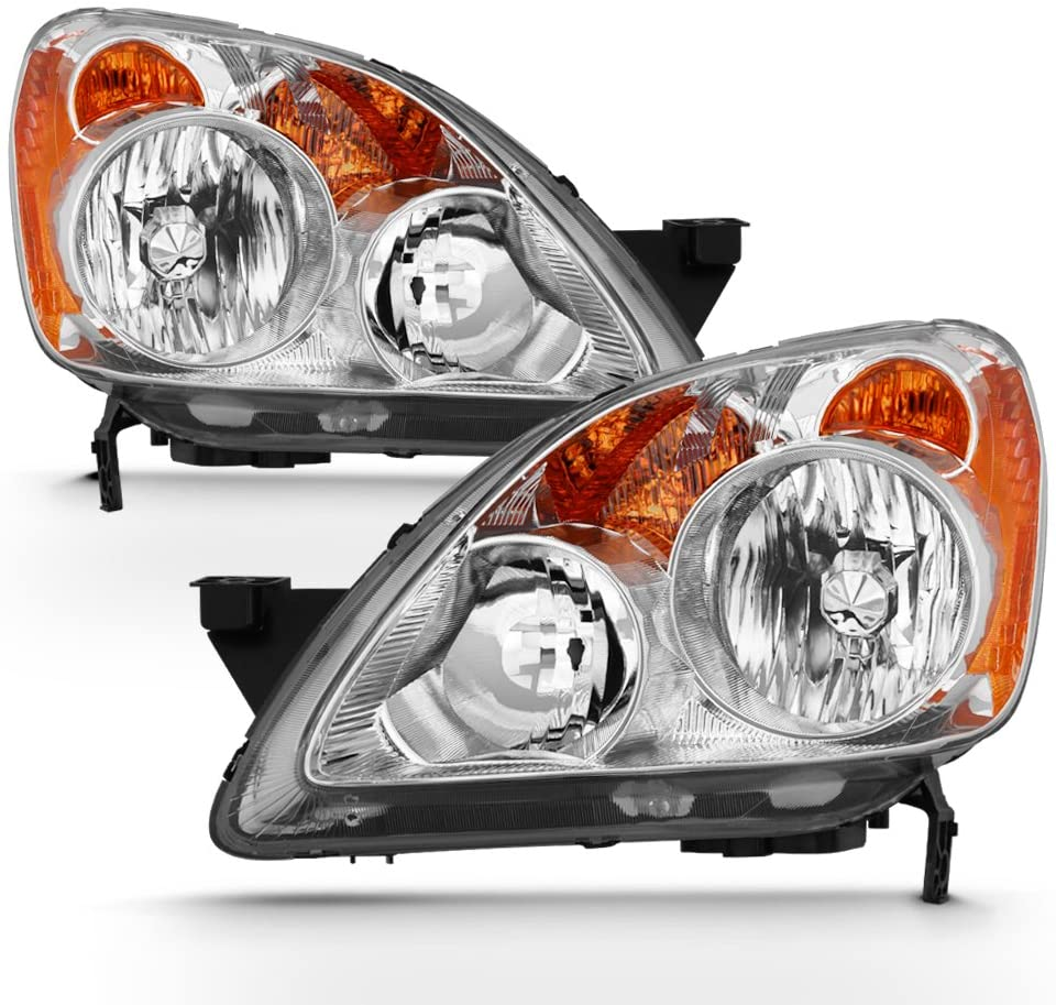 ACANII - For 2005-2006 Honda CRV C-RV Headlights Headlamps Front Head Lights Lamps - Replacement Driver & Passengre Side