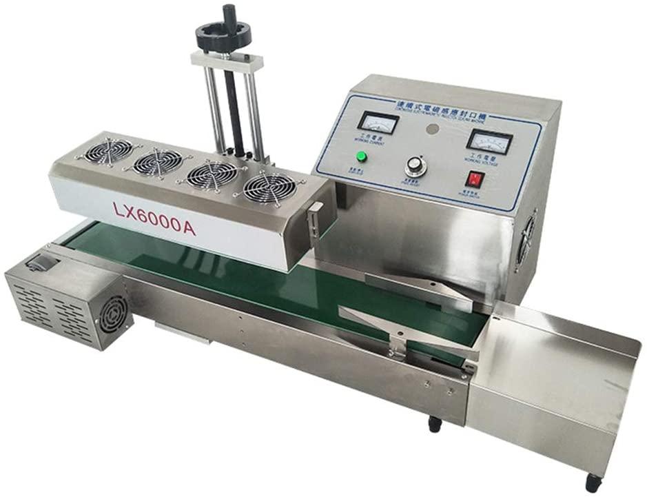6000 Automatic Continuous Electromagnetic Induction Aluminum Foil Sealer Sealing Machine 20-100mm (220V)