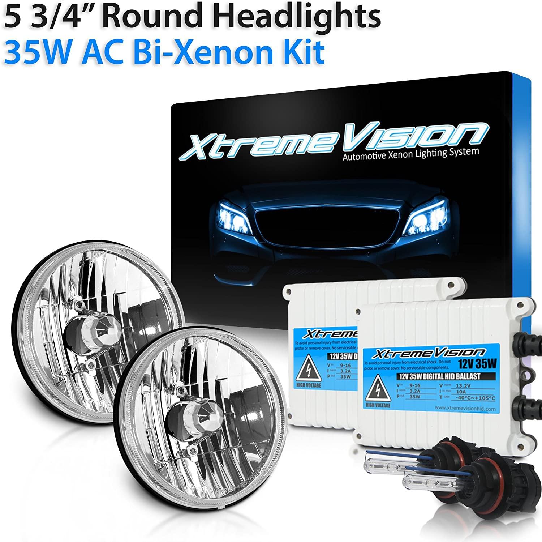 XtremeVision 5 3/4 Inch Round Sealed Beam 35W AC 5000K - Bright White Bi-Xenon HID