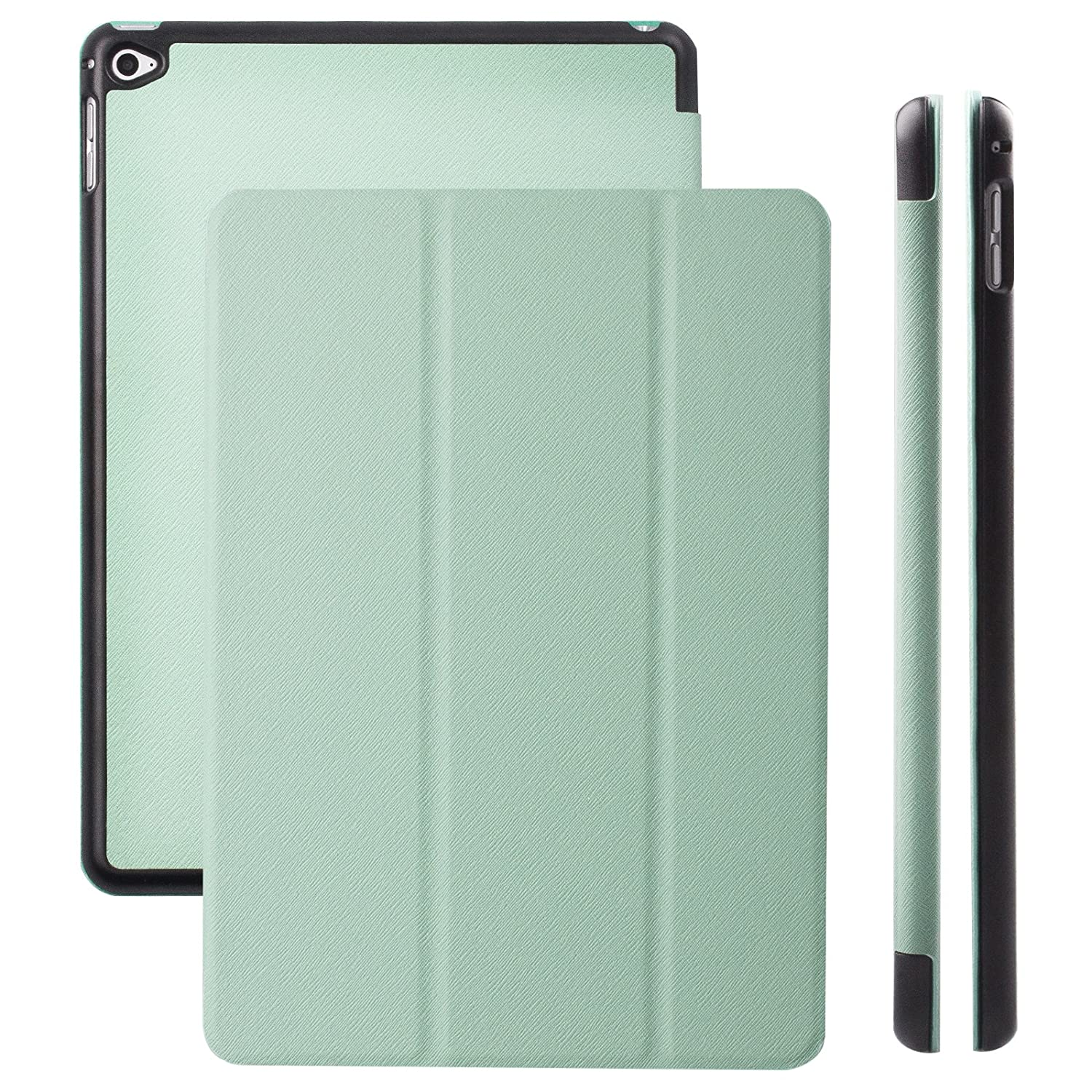 iCues | Compatible with Apple iPad Air 2 Case | Hippo Mint Green | Ancho Cover with Stand | Other Leather - and Colour Variations Available | Protective Flip Wallet with Gift Box