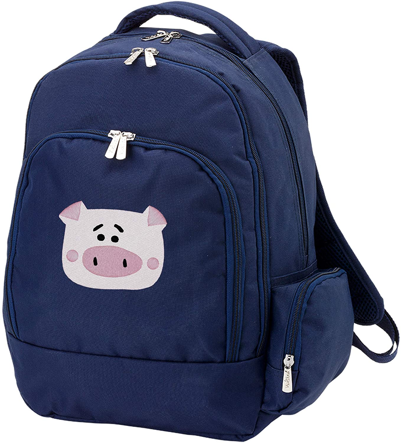 Personalized Kids Backpack with Cute Animal Design | Back to School Kids Gift(Pig/navy)