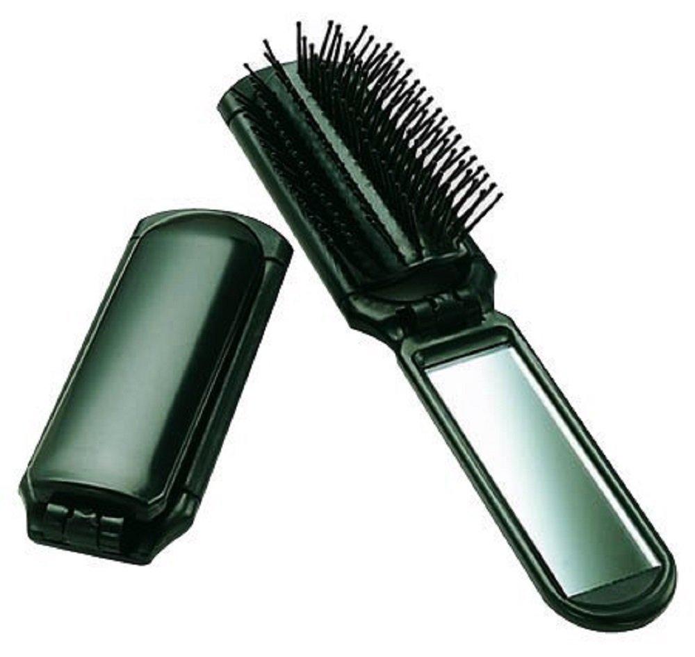 Ultra Folding Hair Brush with Mirror