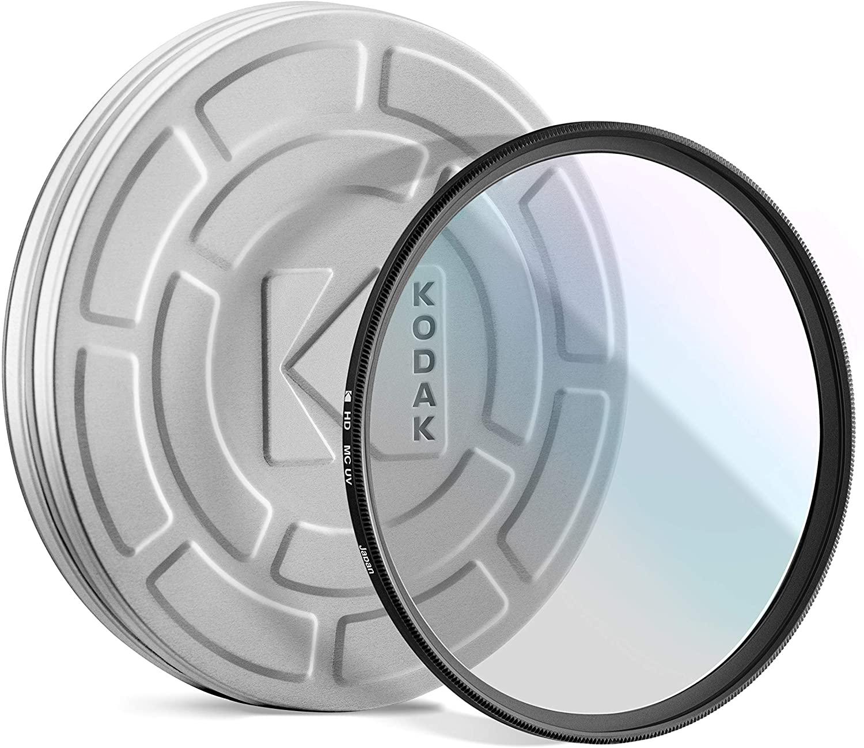 KODAK 43mm UV Filter Protective Ultraviolet Filter Absorbs Atmospheric Haze, Improves Sharpness & Shields Lens from Environmental Damage, Super Slim, Multi-Coated Nano Polished Glass & Mini Guide