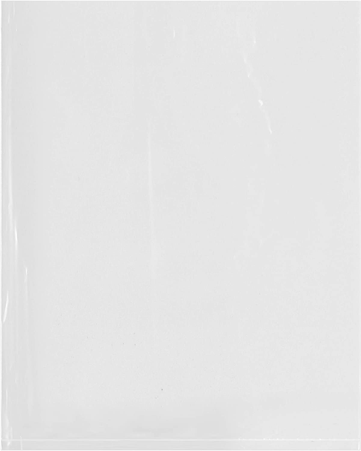 Plymor Flat Open Clear Plastic Poly Bags, 6 Mil, 8