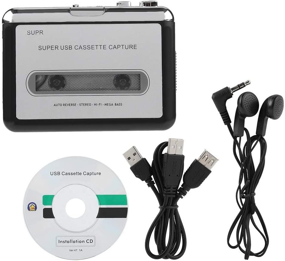 SKTE Tape to PC Cassette Recorder MP3 CD Converter Capture Digital Audio Music Player