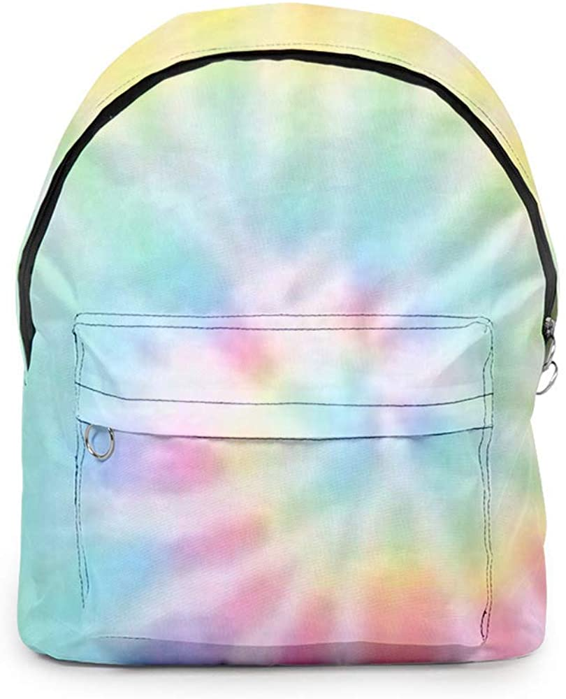 Tie-dye School Backpack 3D Fashion Printed School Bag Travel Casual Cute Daypack for Teen Girls