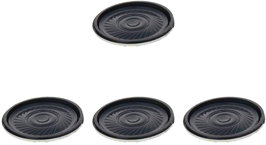 Fielect Mini DIY Speaker 1W 8 Ohm 36mm Round Shape Replacement Loudspeaker for Home Audio-Visual Equipment and Other Speakers 4pcs