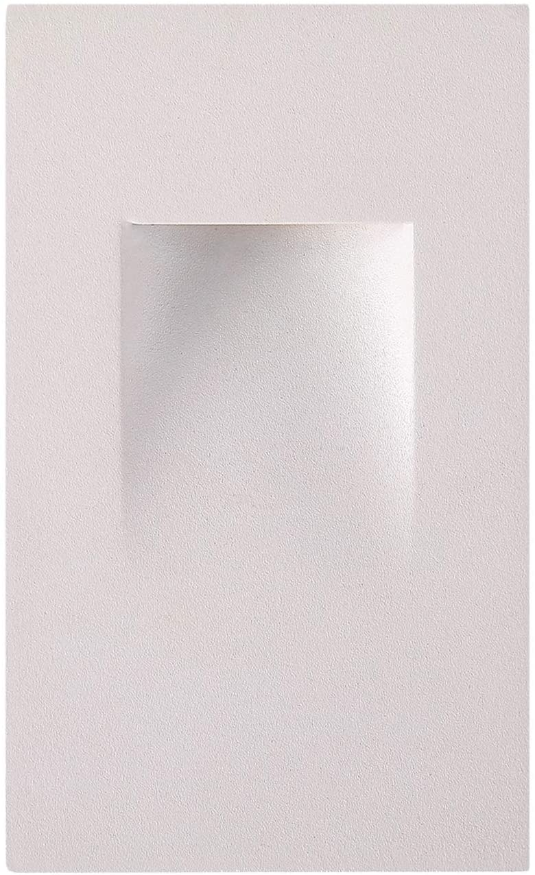 OSTWIN LED Step Light Indoor/Outdoor Stair Light Fixture, Vertical Stairway Light, Dimmable, White Finish, 3 Watt, 4000 K (Bright Light) 70 LM, ETL Listed