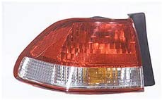 For 2001-2002 Honda Accord Rear Tail Light Driver Side HO2800135 4dr For Sedan; body mounted; w/o bulbs or sockets - replaces 33551-S84-A11