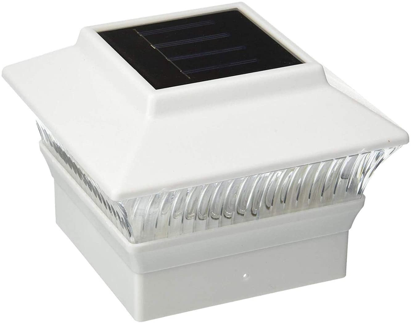 Exquisite Selebrity 12 Pack 4x4 Solar Powered Plastic White LED Square Garden Deck Patio Fence Pathway Post Light