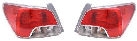 Go-Parts - PAIR/SET - for 2012 - 2013 Subaru Impreza Rear Tail Lights Lamps Assembly Housing / Lens / Cover - Left & Right (Driver & Passenger) Side - (Sedan) SU2819103 SU2818103 84912FJ020