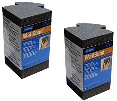 Norton WallSand Inside Corner Sanding Sponge (2-Pack) 90-Degree Dual-Sided with Ergo Grip (2-Pack)